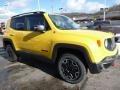 2016 Solar Yellow Jeep Renegade Trailhawk 4x4  photo #7
