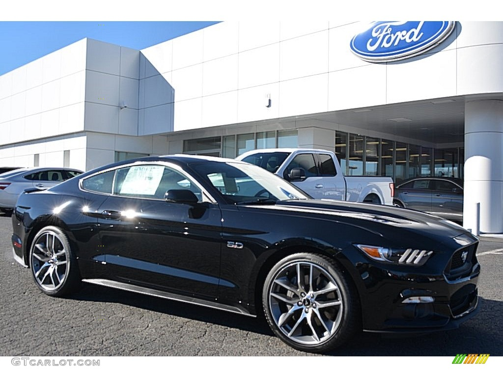 2016 Mustang Gt Premium Coupe Shadow Black Ebony Photo 1