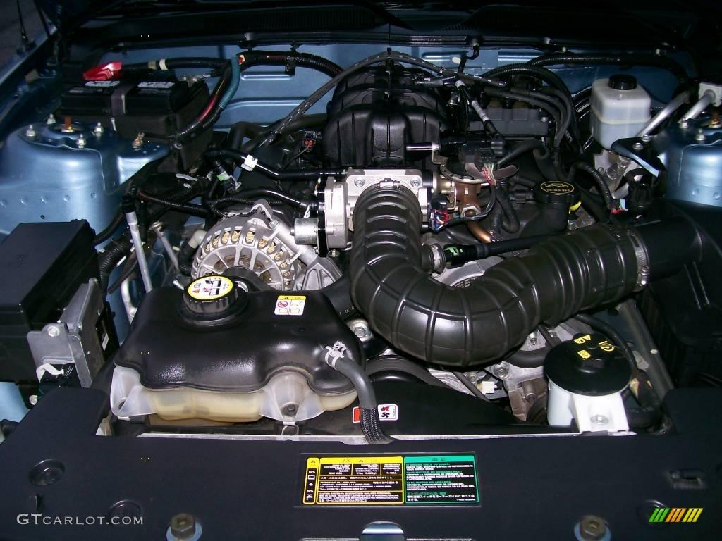 2006 Mustang V6 Premium Coupe - Windveil Blue Metallic / Light Graphite photo #6