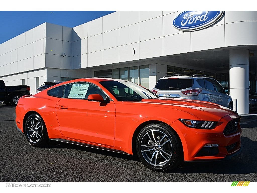 2016 Compeion Orange Ford Mustang Ecoboost Coupe 109872549