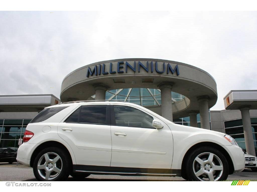 2007 alabaster white mercedes benz ml 320 cdi 4matic 10975907 car color galleries. Black Bedroom Furniture Sets. Home Design Ideas