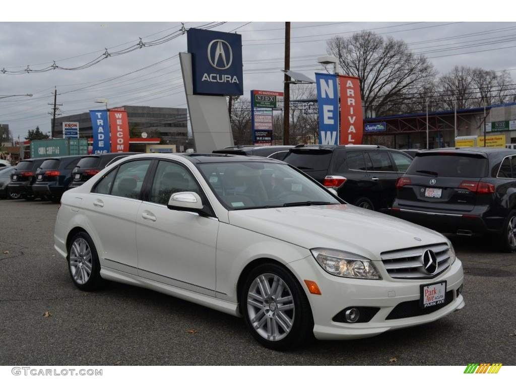 2009 arctic white mercedes benz c 300 4matic 109946082 for 2009 mercedes benz c 300