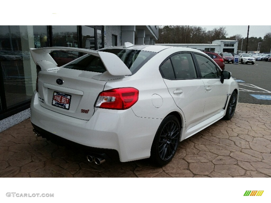2016 Crystal White Pearl Subaru Wrx Sti 109978552 Photo 4