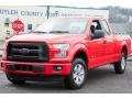 2016 Race Red Ford F150 XL SuperCab 4x4  photo #1