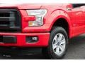 2016 Race Red Ford F150 XL SuperCab 4x4  photo #2