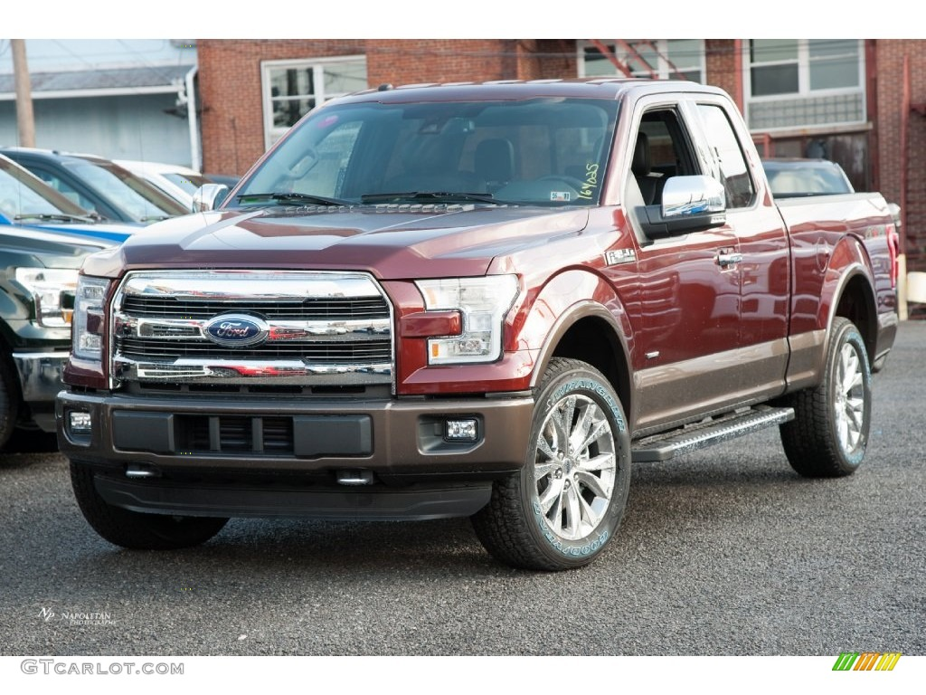 2016 bronze fire ford f150 lariat supercab 4x4 109995353 photo 3 car color. Black Bedroom Furniture Sets. Home Design Ideas