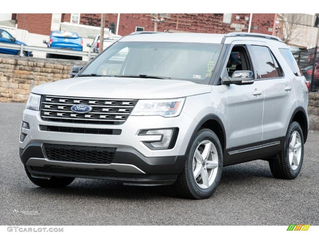 2016 Explorer XLT 4WD - Ingot Silver Metallic / Ebony Black photo #1