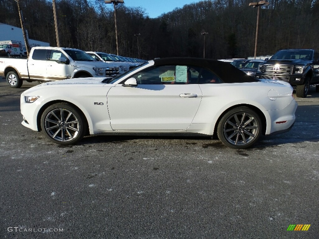 2016 mustang gt premium convertible oxford white red line photo 1