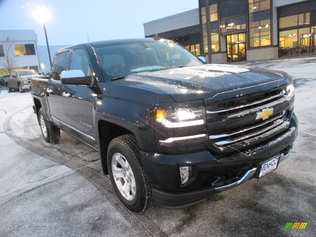 2016 black chevrolet silverado 1500 ltz z71 crew cab 4x4 110003904 car color. Black Bedroom Furniture Sets. Home Design Ideas