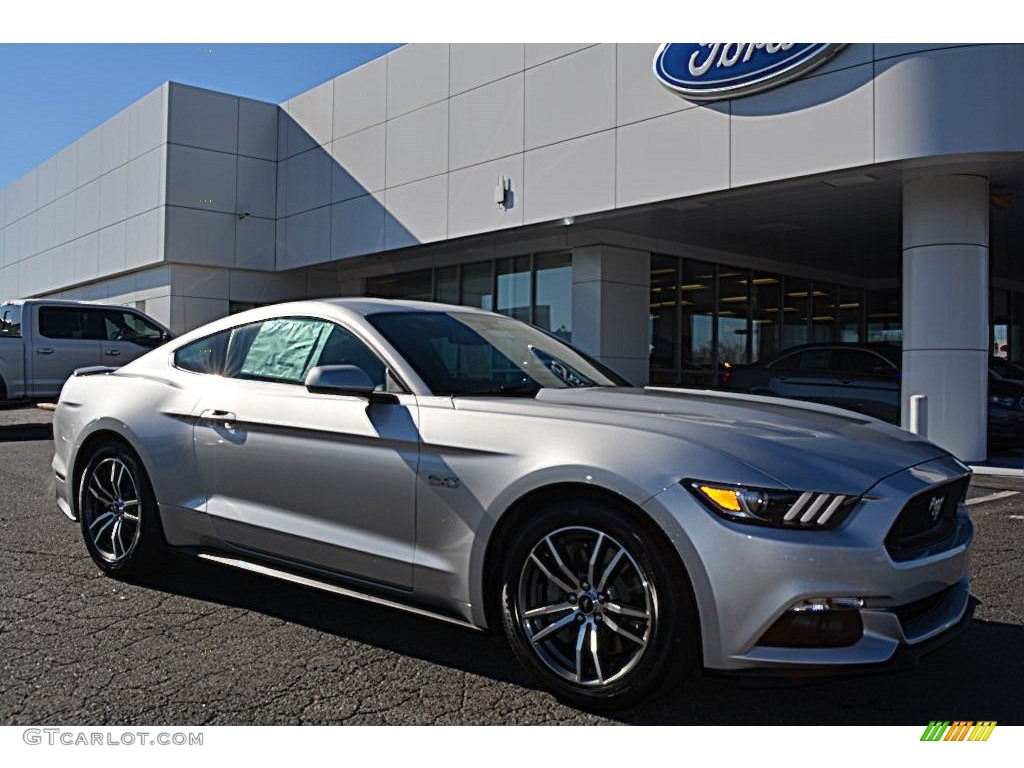 2016 Mustang Gt Premium Coupe Ingot Silver Metallic Ebony Photo 1