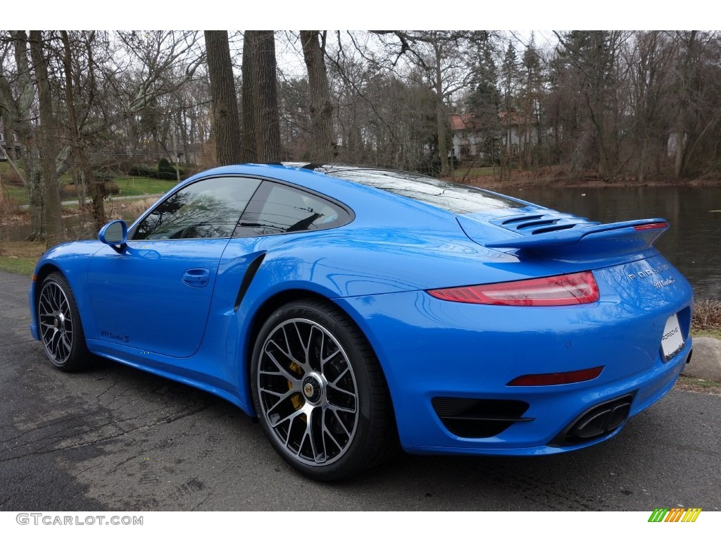 2016 Voodoo Blue, Paint to Sample Porsche 911 Turbo S Coupe