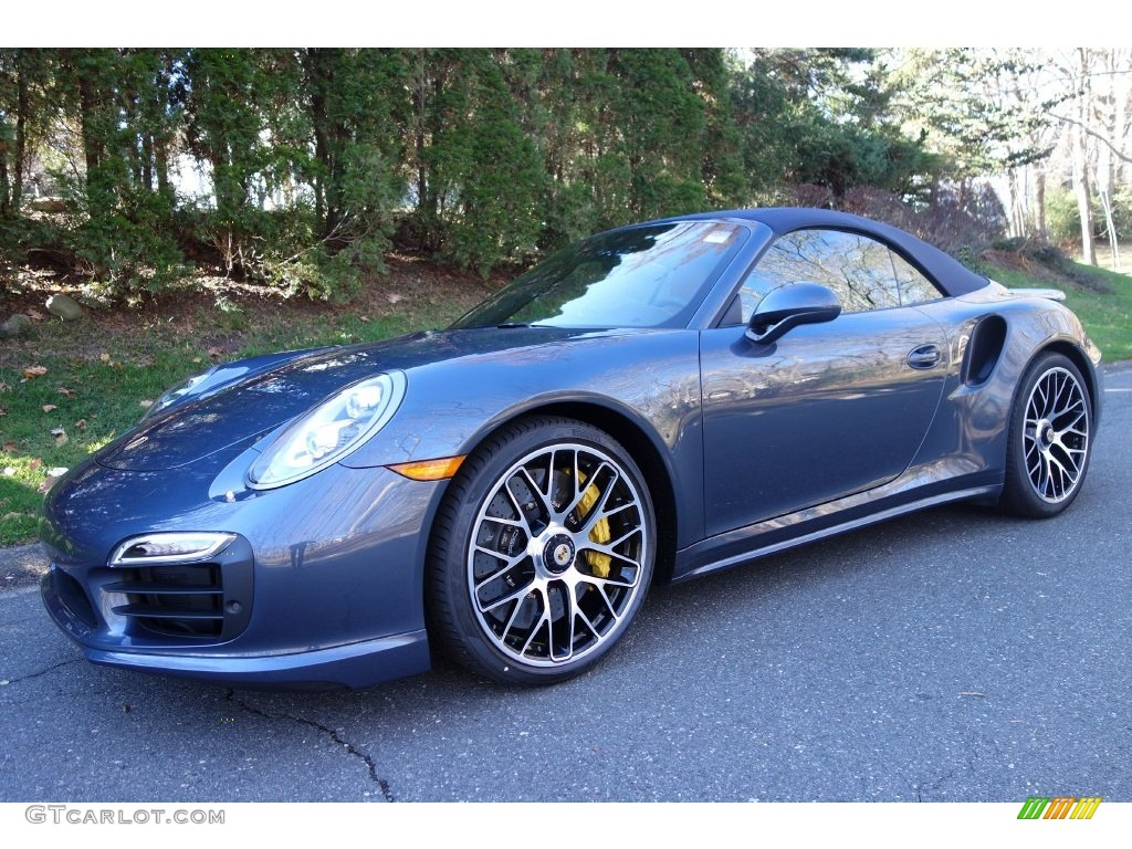 2016 911 Turbo S Cabriolet - Yachting Blue, Paint to Sample / Espresso/Cognac Natural Leather photo #1