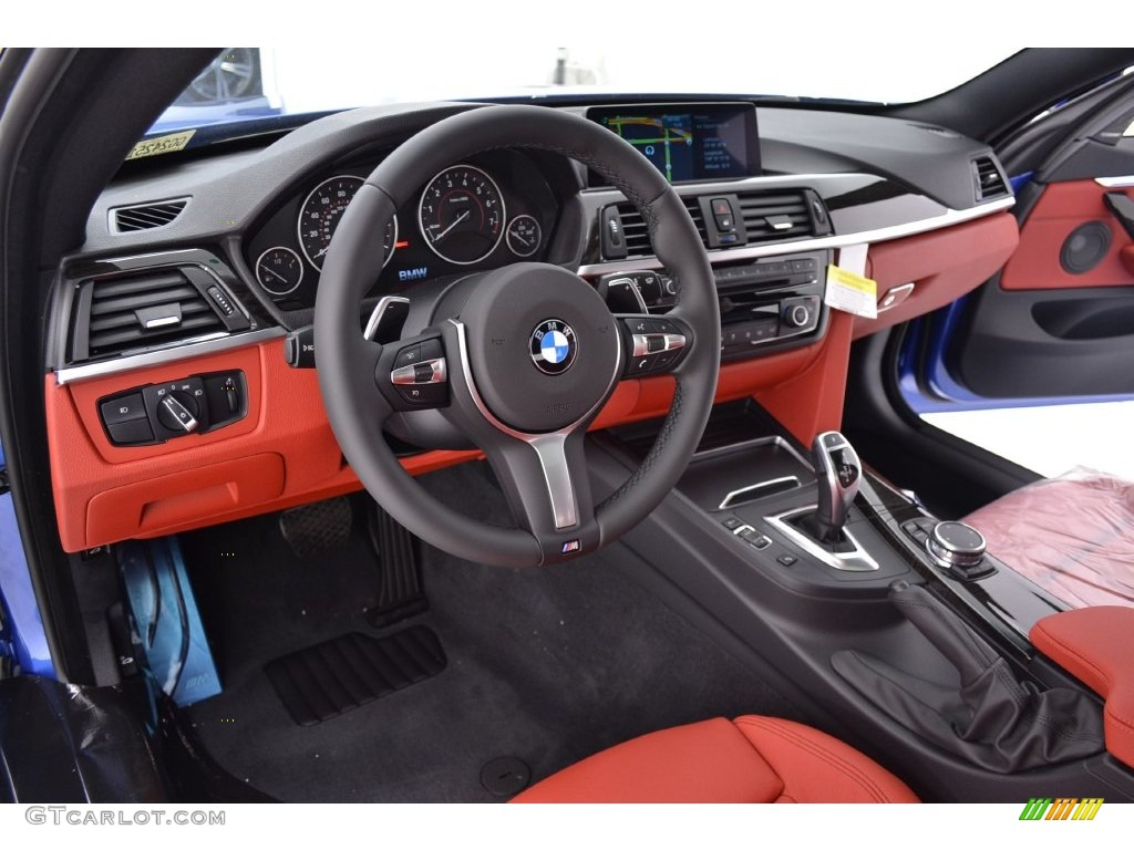 Coral Red Interior 2016 BMW 4 Series 435i Gran Coupe Photo 110136389
