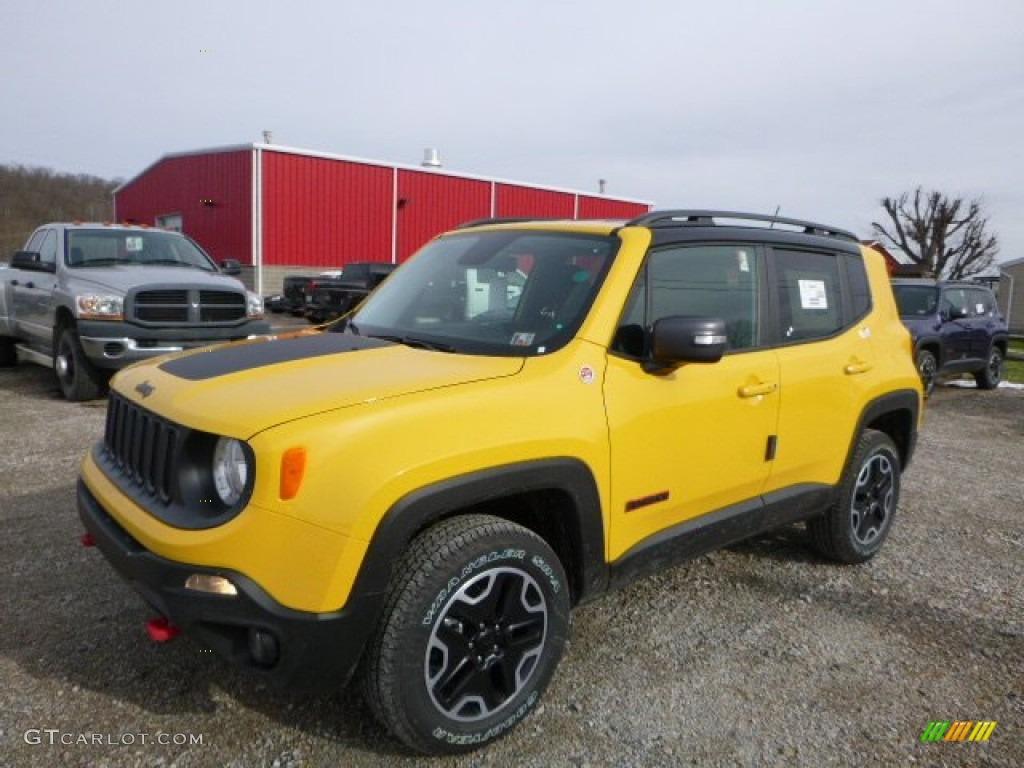 Solar Yellow Jeep Renegade
