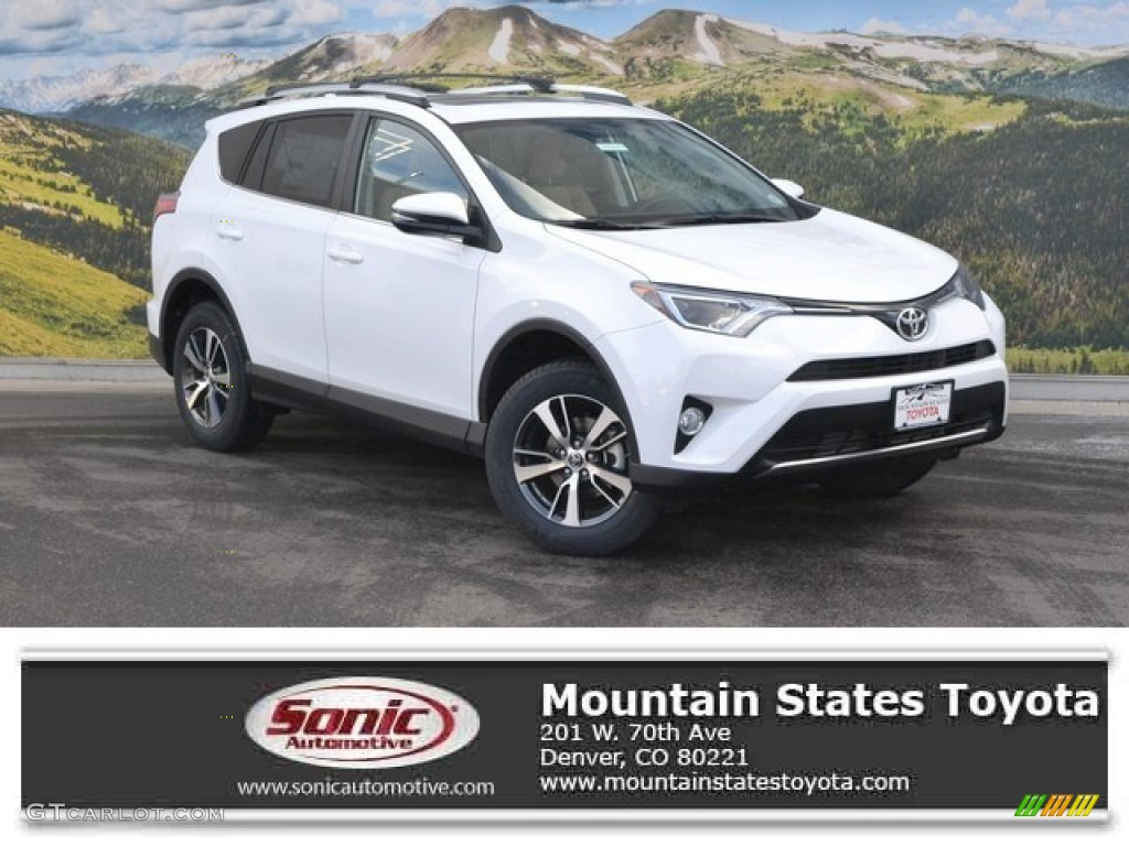 2016 super white toyota rav4 xle awd 110163689 car color galleries. Black Bedroom Furniture Sets. Home Design Ideas