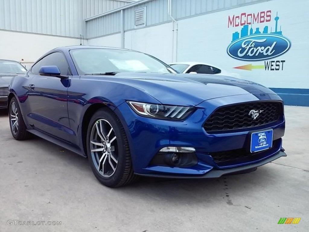 2016 Mustang EcoBoost Premium Coupe - Deep Impact Blue Metallic / Ebony photo #1