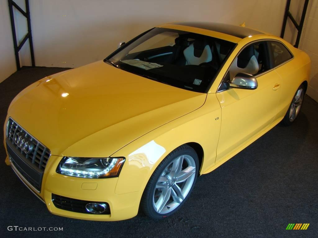 2009 Imola Yellow Audi S5 4 2 Quattro 11013566 Photo 4