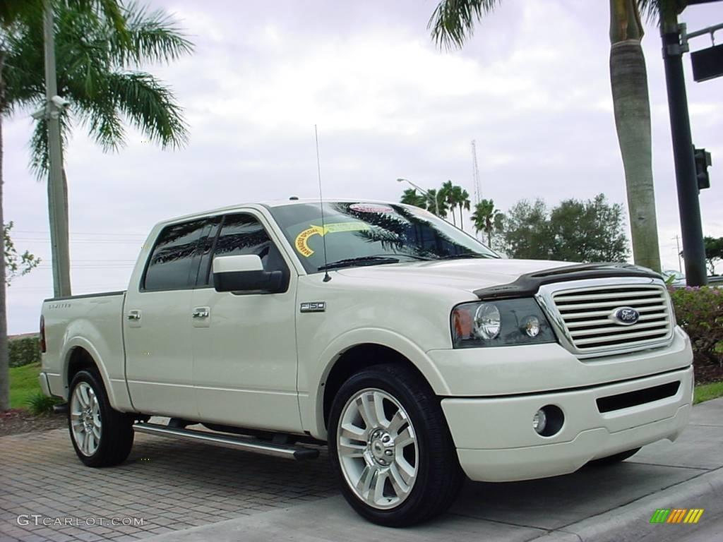 2008 White Sand Tri Coat Ford F150 Limited Supercrew