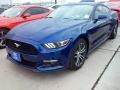 2016 Deep Impact Blue Metallic Ford Mustang EcoBoost Coupe  photo #6