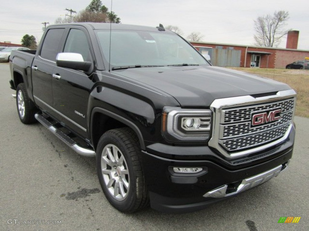 2016 onyx black gmc sierra 1500 denali crew cab 4wd 110220998 car color galleries. Black Bedroom Furniture Sets. Home Design Ideas