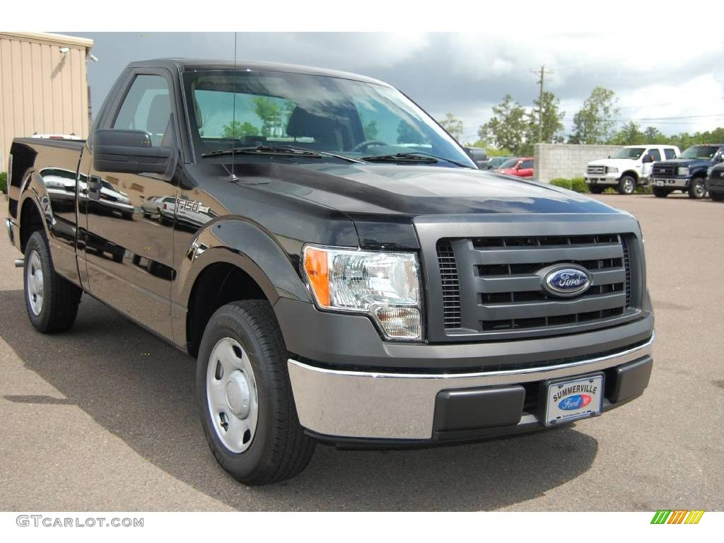 2009 black ford f150 xl regular cab 11015616 car color galleries. Black Bedroom Furniture Sets. Home Design Ideas