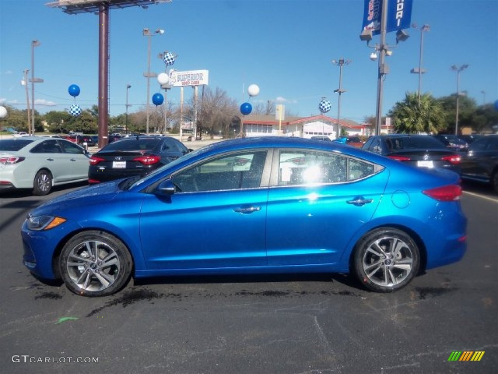 2017 Elantra Limited Electric Blue Gray Photo 8