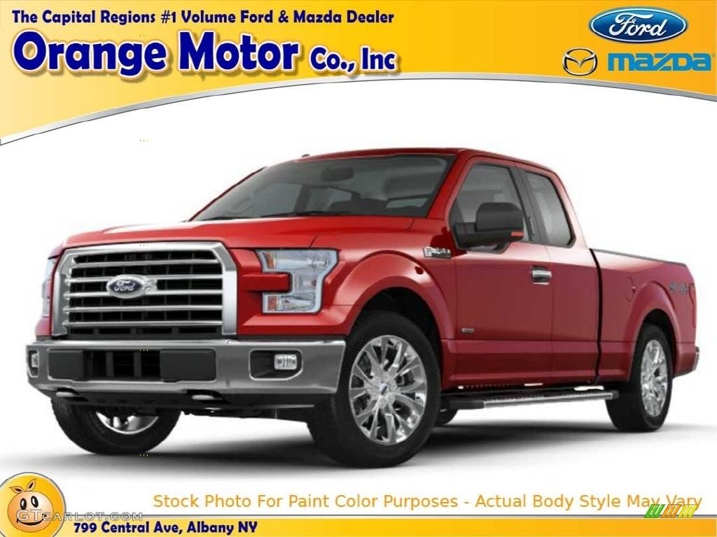 2016 F150 XL Regular Cab - Race Red / Medium Earth Gray photo #1
