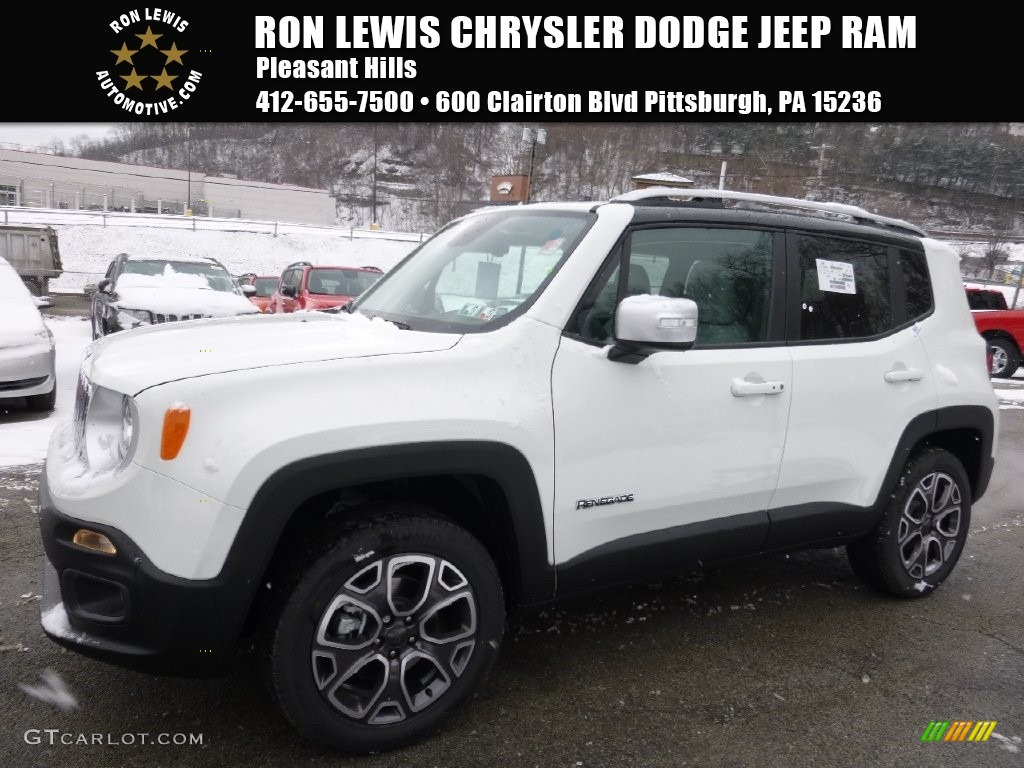 2016 Renegade Limited 4x4 - Alpine White / Bark Brown/Ski Grey photo #1