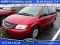 2002 Inferno Red Tinted Pearlcoat Chrysler Town & Country LX #110275691