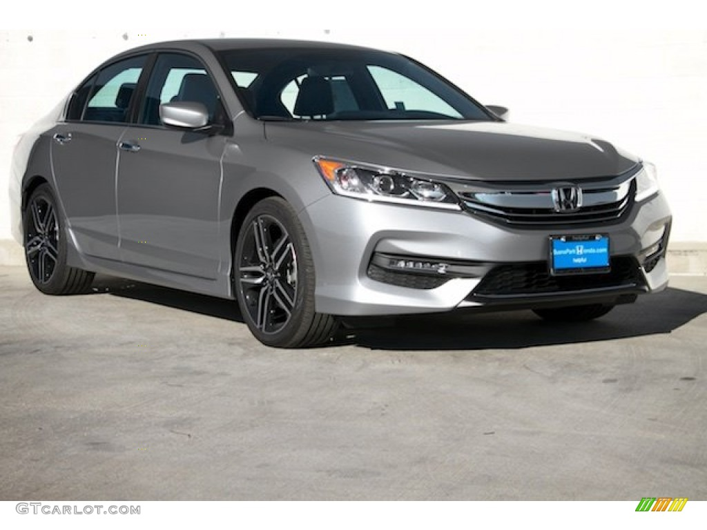 2016 lunar silver metallic honda accord sport sedan. Black Bedroom Furniture Sets. Home Design Ideas