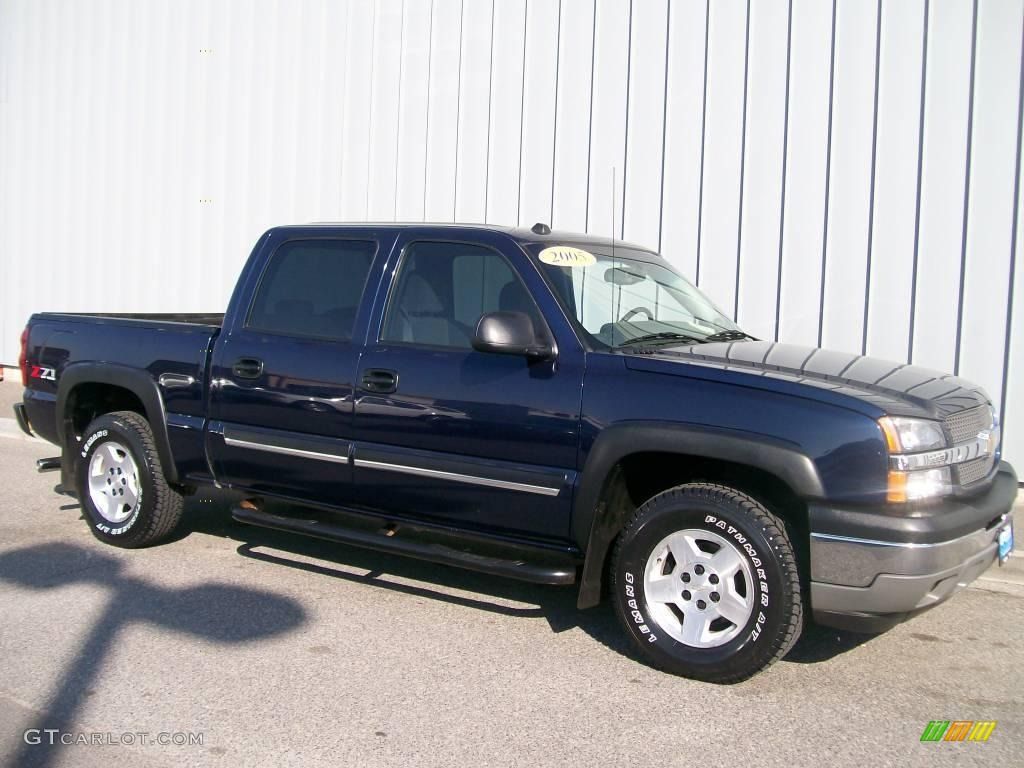 2005 silverado 1500 z71 crew cab 4x4 dark blue metallic dark charcoal photo