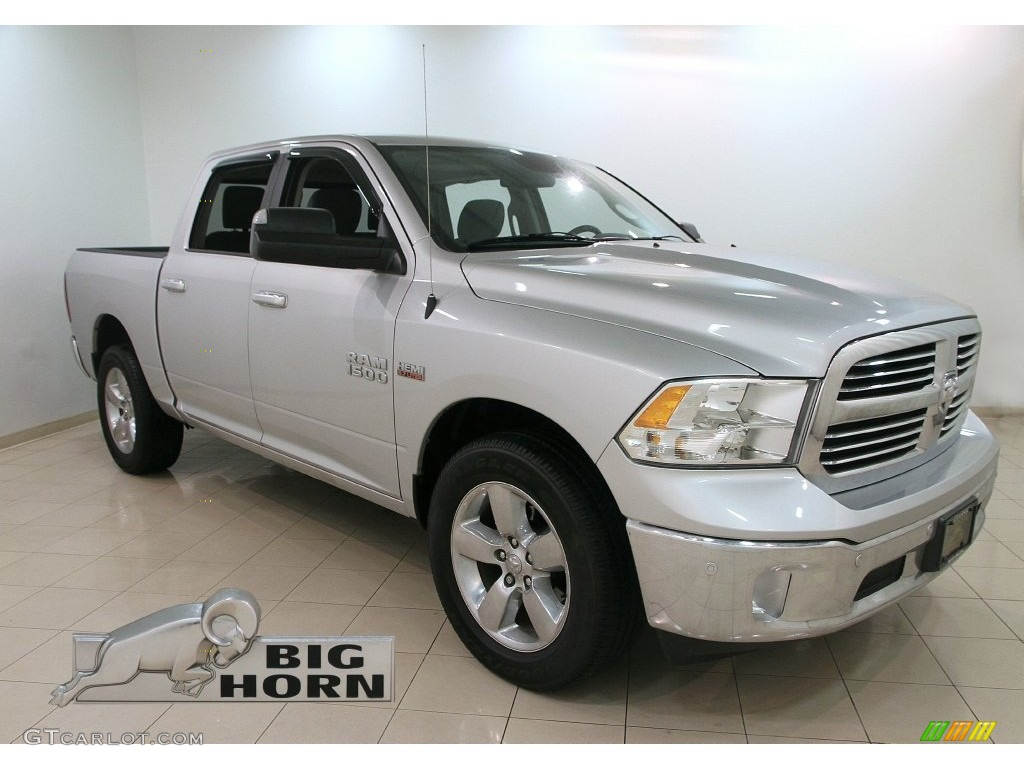 2014 bright silver metallic ram 1500 big horn crew cab 4x4 110336090 car color. Black Bedroom Furniture Sets. Home Design Ideas