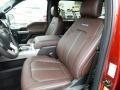 2016 Ford F150 Platinum Brunello Interior Front Seat Photo