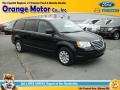 Brilliant Black Crystal Pearl 2010 Chrysler Town & Country LX