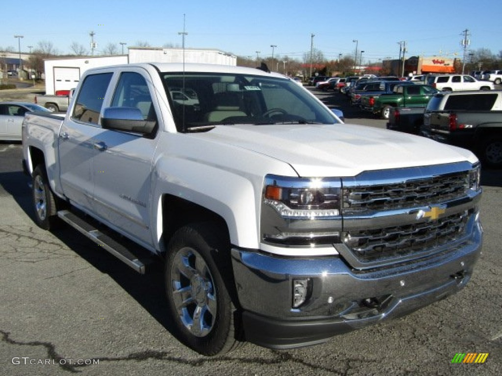 2016 summit white chevrolet silverado 1500 ltz z71 crew cab 4x4 110419909 car. Black Bedroom Furniture Sets. Home Design Ideas