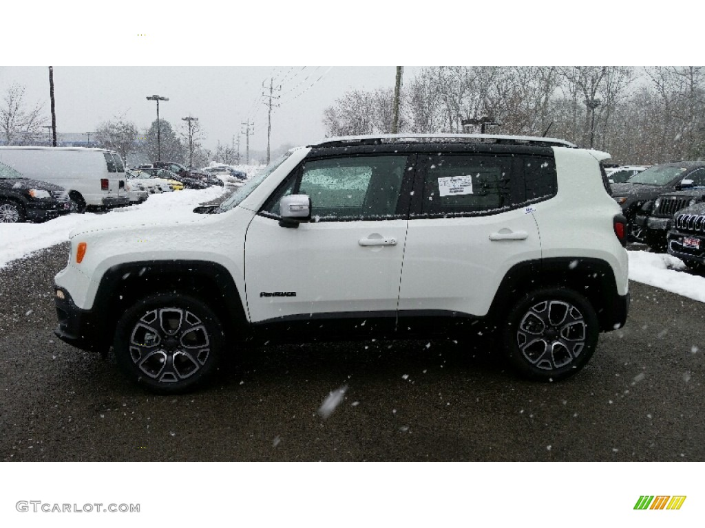 2016 Renegade Limited 4x4 - Alpine White / Black photo #3