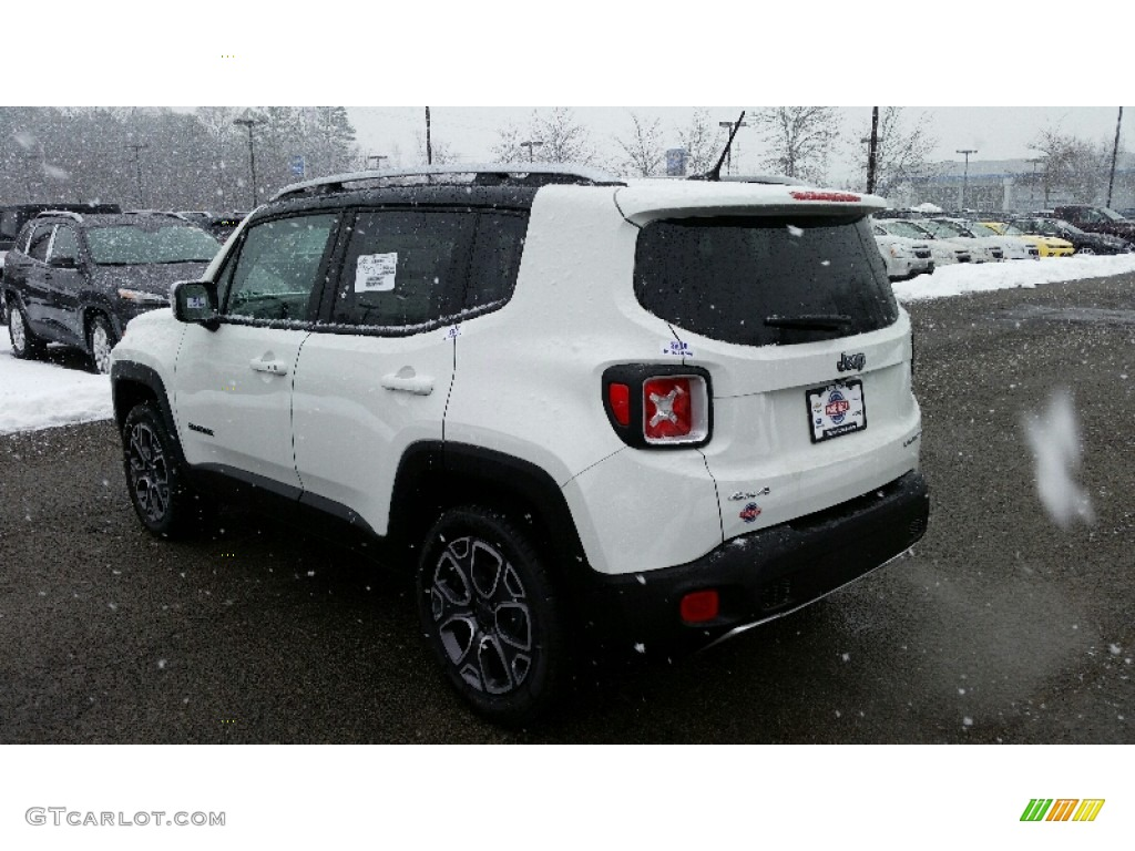 2016 Renegade Limited 4x4 - Alpine White / Black photo #4