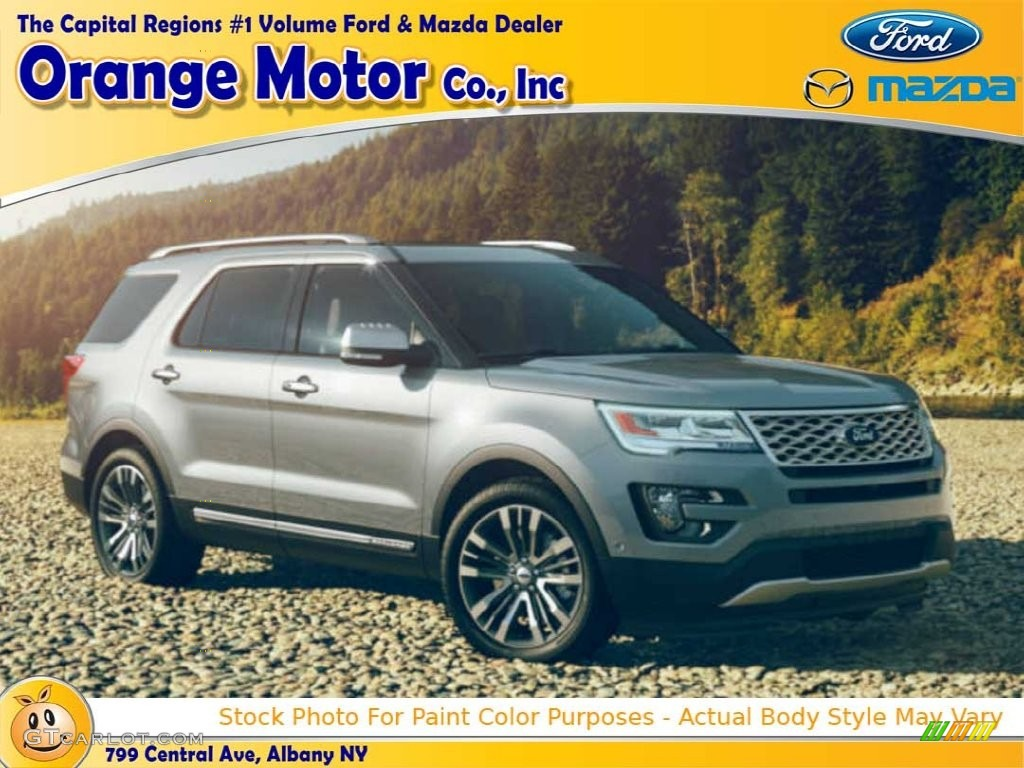 2016 Explorer XLT 4WD - Ingot Silver Metallic / Ebony Black photo #1