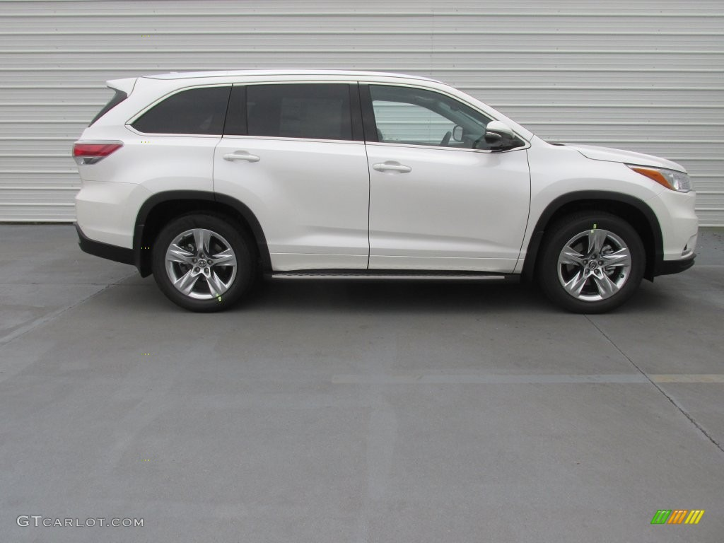 2016 Blizzard Pearl Toyota Highlander Limited Platinum 110495155 Photo 3 Car