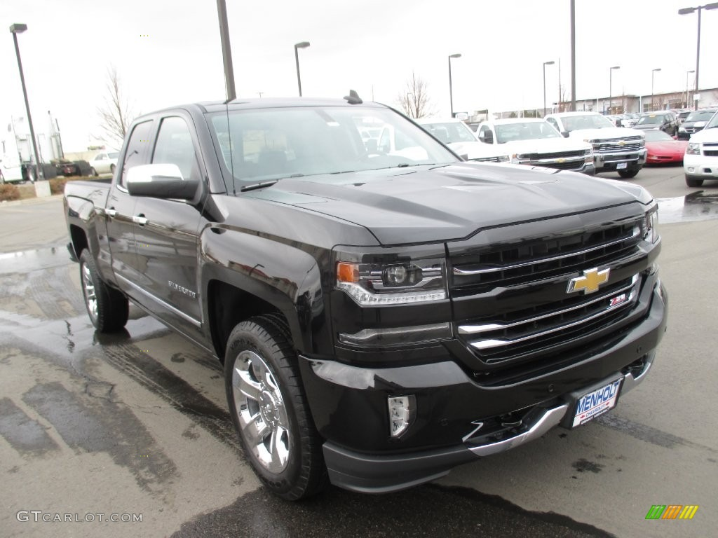 2016 black chevrolet silverado 1500 ltz z71 double cab 4x4 110495255 car color. Black Bedroom Furniture Sets. Home Design Ideas