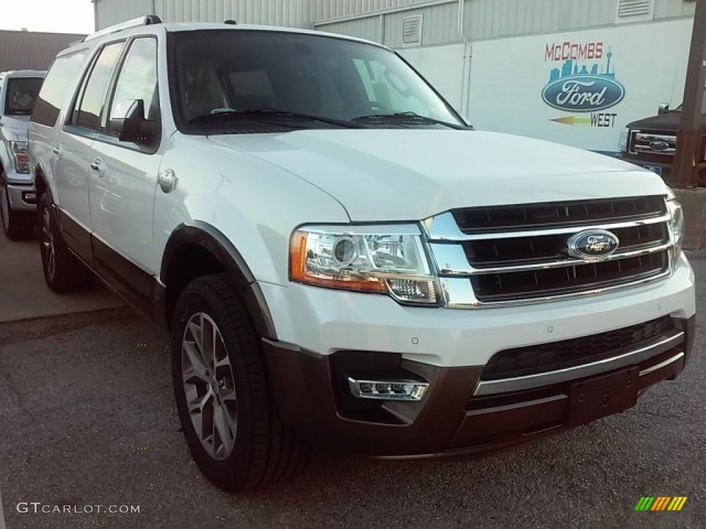 2016 white platinum metallic tricoat ford expedition el. Black Bedroom Furniture Sets. Home Design Ideas