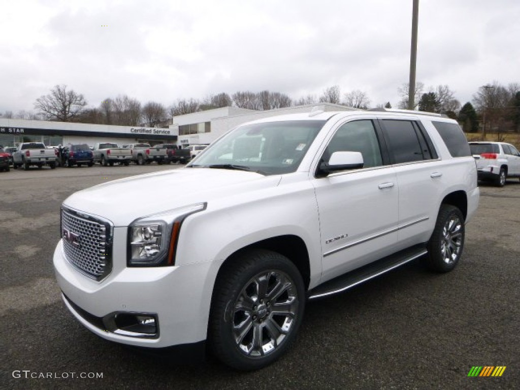 2016 white frost tricoat gmc yukon denali 4wd 110550294. Black Bedroom Furniture Sets. Home Design Ideas