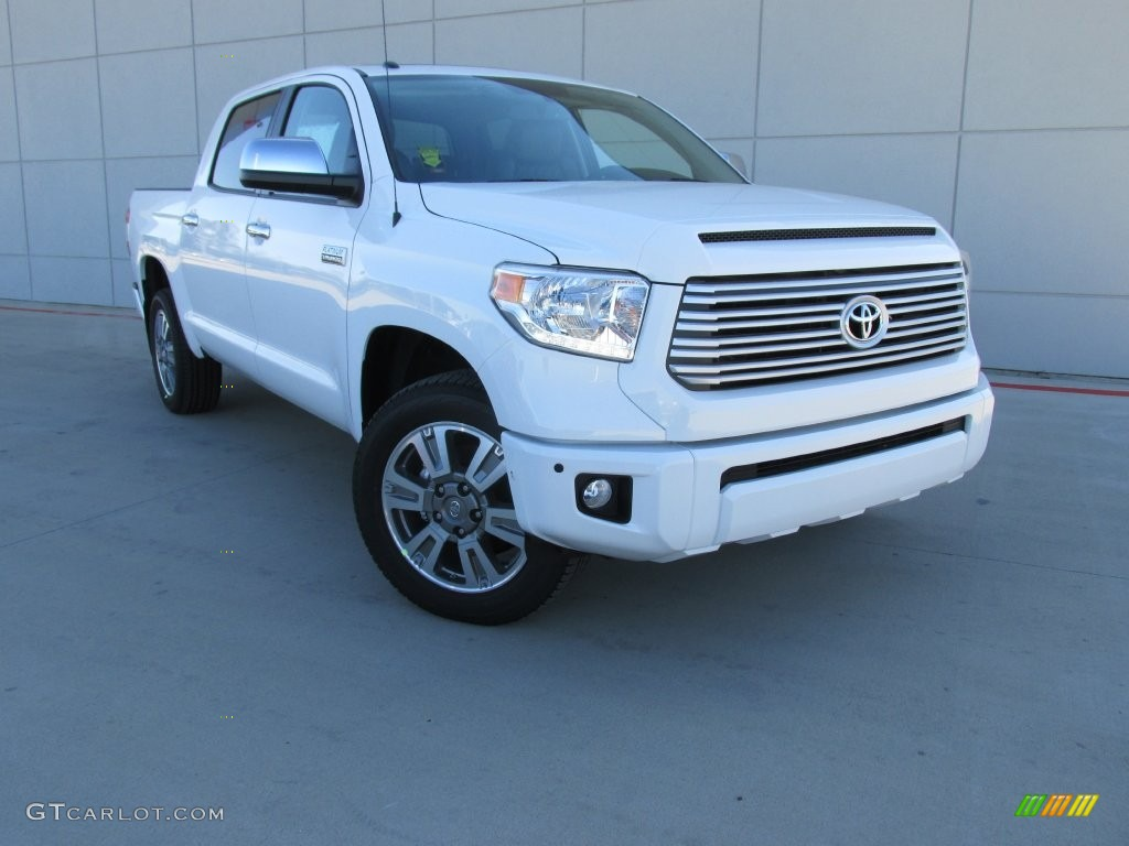 2016 Tundra Platinum CrewMax - Super White / Black photo #1