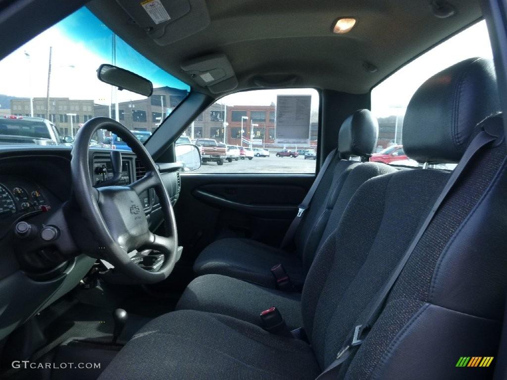 2000 Silverado 1500 LS Regular Cab 4x4 - Charcoal Gray Metallic / Graphite photo #12