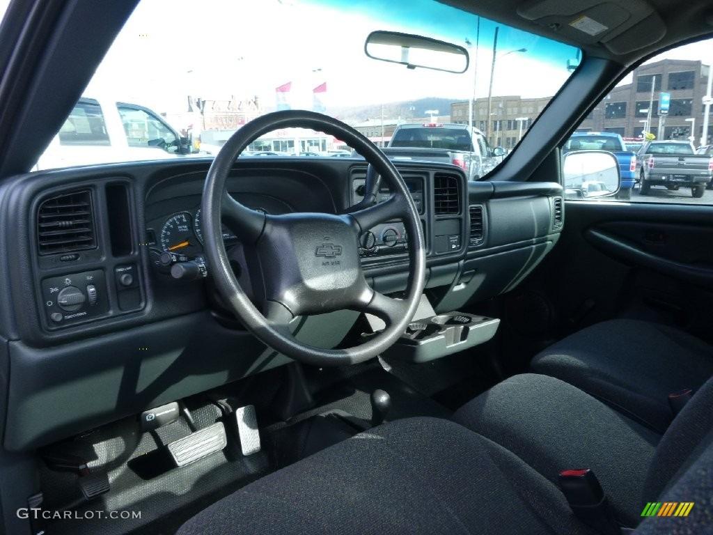 2000 Silverado 1500 LS Regular Cab 4x4 - Charcoal Gray Metallic / Graphite photo #13