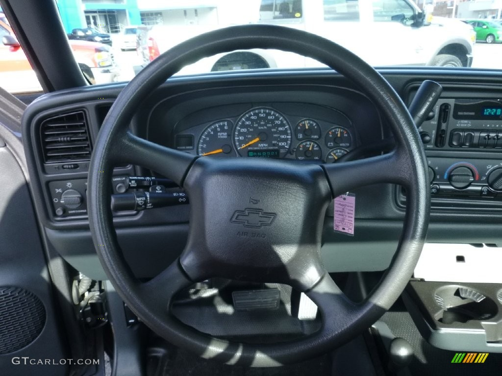 2000 Silverado 1500 LS Regular Cab 4x4 - Charcoal Gray Metallic / Graphite photo #17