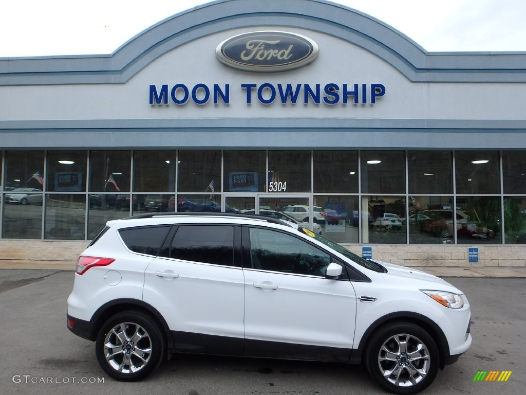2014 Escape SE 2.0L EcoBoost 4WD - White Platinum / Charcoal Black photo #1