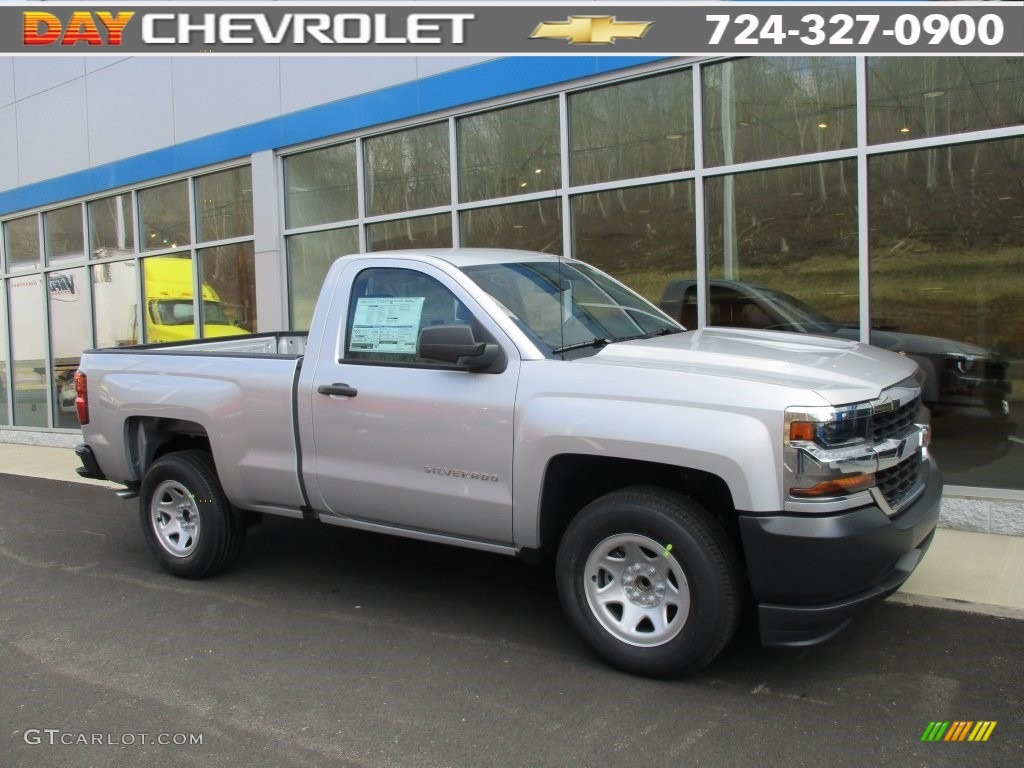 2016 silver ice metallic chevrolet silverado 1500 wt. Black Bedroom Furniture Sets. Home Design Ideas