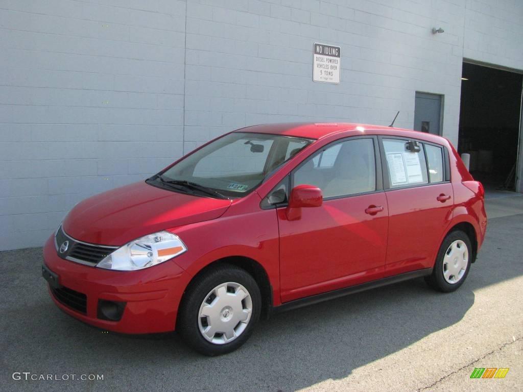 2007 Red Alert Nissan Versa S 11053546 Gtcarlot Com