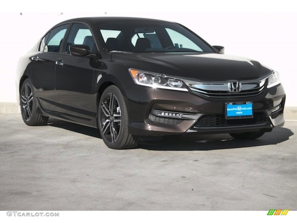 2016 kona coffee metallic honda accord sport sedan for Honda accord 2016 black